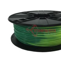 1.75mm ABS Filament Blue green to yellow green