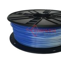 3.0mm ABS Filament Blue to white